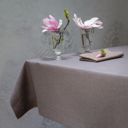 Linen tablecloth - meaty graphite