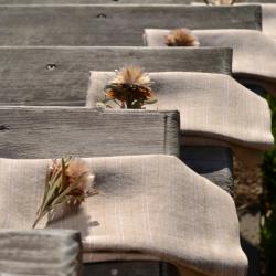 Lniana serwetka - intrygujący róż