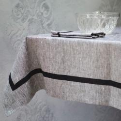 Linen tablecloth - pepper and salt