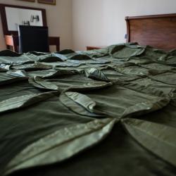 Green wheel bedcover