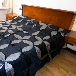 Black wheel bedcover