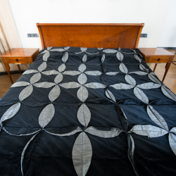 Black wheel bedcover