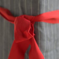 Linen apron - graphite