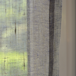 Sheer curtain - Navy-Yellow Melange