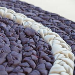 Pleciony chodniczek - fioletowy duży