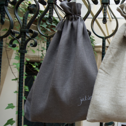 Linen bag - stone