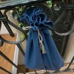 Linen bag - indigo