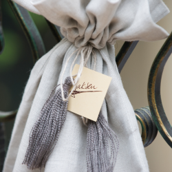 Linen bag - dove