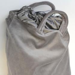 Velvet bag - gray