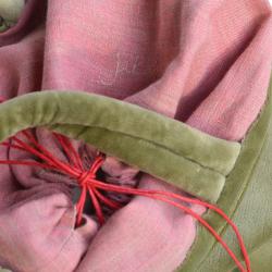 Siatka aksamitna - zielono/różowa