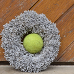 Felt bauble - light green