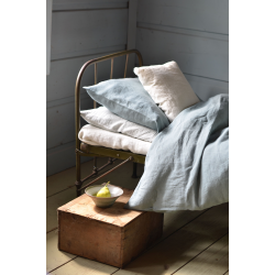 Linen bedding-blue
