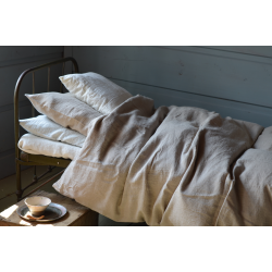 Linen bedding-natural