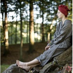 linen bathrobe-light beige
